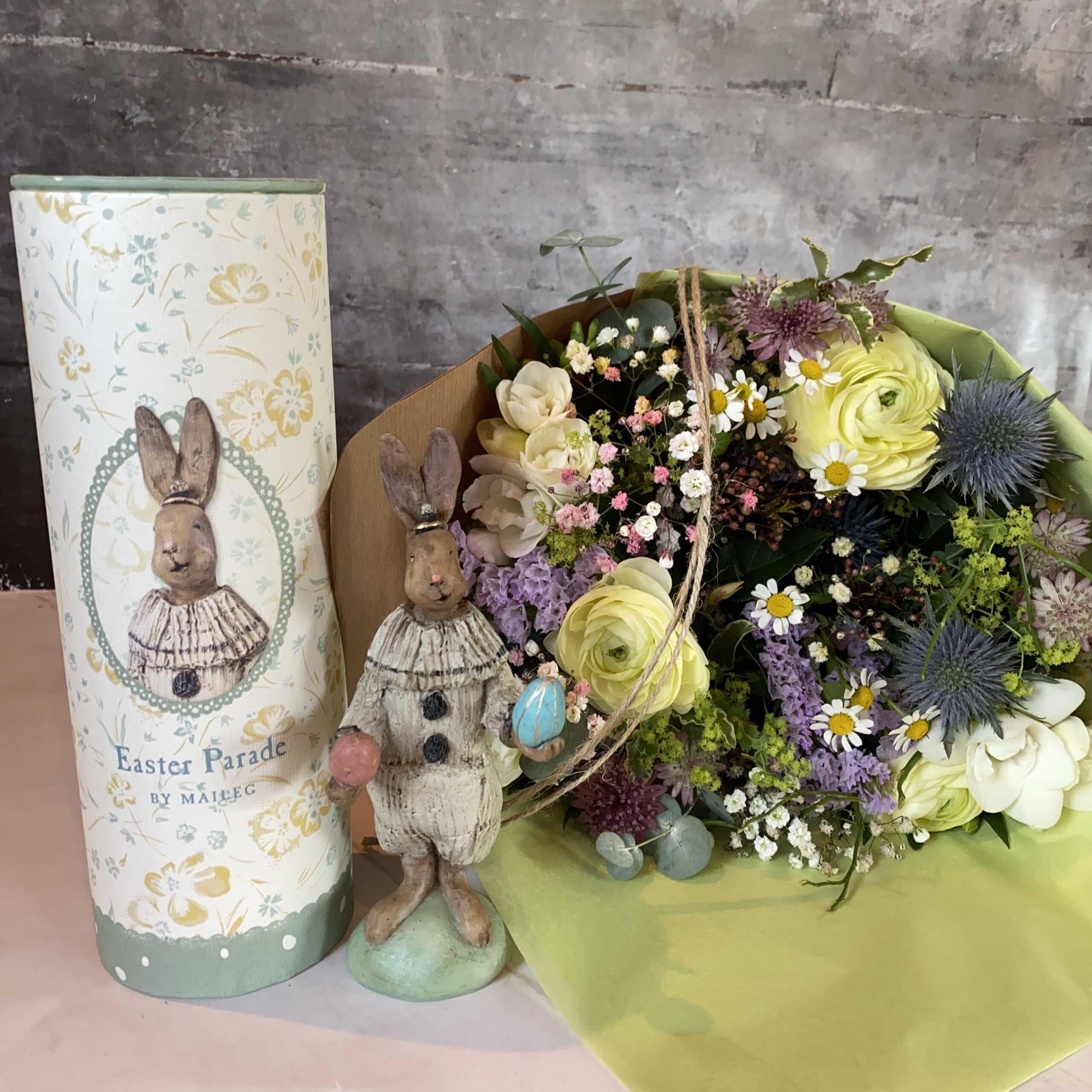 Maileg-kanin og smuk påskebuket ~ 400 kr.
